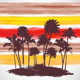 Vector Palm trees illustration Royalty Free Stock Photo