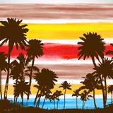 Vector Palm trees illustration Stock Images