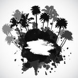 Vector Palm trees illustration. For your business Royalty Free Stock Images