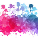Vector Palm trees illustration. For your business Stock Photo