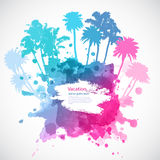 Vector Palm trees illustration Royalty Free Stock Photos