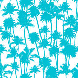 Vector Palm trees seamless pattern Royalty Free Stock Photography