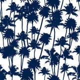 Vector Palm trees seamless pattern Stock Photography