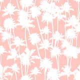 Vector Palm trees seamless pattern Stock Image