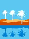 Vector palms Stock Photos