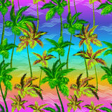 Vector palms pattern Stock Photo