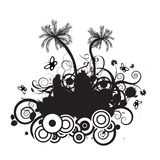 Vector palmtree design. Trendy vector palmtree design with lots of copyspace Stock Photos