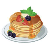 Vector pancake. Isolated background Stock Image