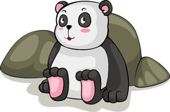 vector Panda sit illustration Royalty Free Stock Image