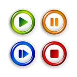 Vector paneelelementen - het spel, pauze, einde, door:sturen royalty-vrije illustratie