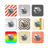 Vector panel toggle switches set Royalty Free Stock Photography