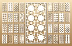 Laser cut panels vector illustration