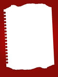 Vector paper. Torn paper in red background Royalty Free Stock Images