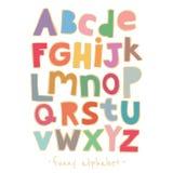 Vector paper alphabet Royalty Free Stock Photo