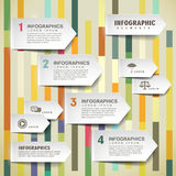 Vector paper arrow tab infographic elements Royalty Free Stock Photo