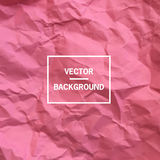 Vector paper background. Vector background. Pink empty crumpled paper background Royalty Free Stock Photography