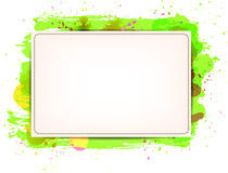 Vector paper banner background with green grungy p Stock Photo