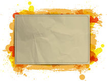 Vector paper banner background with Orange grungy  Royalty Free Stock Photo