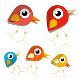 Vector Paper Birds Royalty Free Stock Image