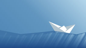 Vector paper boat Royalty Free Stock Photos