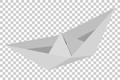 Paper Boat, at Transparent Effect Background. Vector Paper Boat, at Transparent Effect Background stock illustration