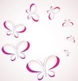 Vector paper butterflies Stock Photos