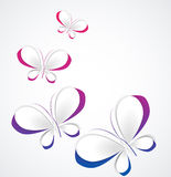 Vector paper butterflies Royalty Free Stock Image