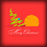 Vector Paper card with Christmas tree Stock Images