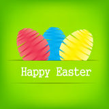 Vector Paper card with easter eggs Stock Photos