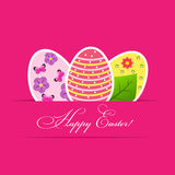 Vector Paper card with easter eggs Stock Images