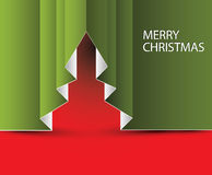 Vector Paper christmas tree Royalty Free Stock Images