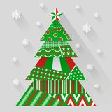 Vector paper christmas tree Royalty Free Stock Image