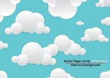 Vector Paper circle. Abstract background. Paper Circles and white Cloud vector illustration