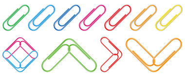 Vector paper clip Royalty Free Stock Image