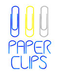 Vector paper clips. Stock Image