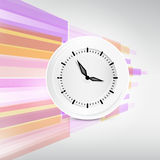 Vector Paper Clock on Abstract Background Royalty Free Stock Photos