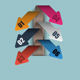 Vector paper curved arrows diagram Royalty Free Stock Photo
