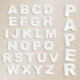 Vector paper cut alphabet Stock Photo