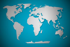 Vector Paper Cut World Map Stock Photos