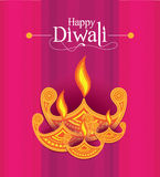 Vector Paper Diwali Design Template Stock Photos