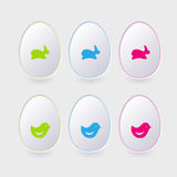 Vector paper easter egg template for cards and gre Royalty Free Stock Photos