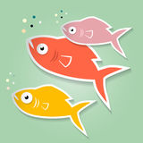 Vector Paper Fish Illustration Stock Photography