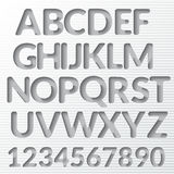 Vector Paper Graphic Alphabet Set Stock Photography