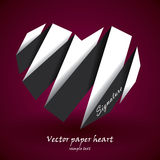 Vector paper heart Royalty Free Stock Photo