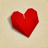 Vector paper heart. Valentines day. EPS 10 Stock Image