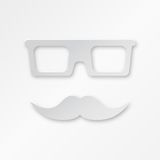 Vector Paper Hipster Background With Glasses And Stock Images