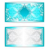 Vector paper horizontal invitation card Royalty Free Stock Photo