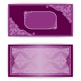 Vector paper horizontal invitation card Royalty Free Stock Images