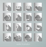Vector paper icons Stock Photos