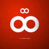 Vector Paper Infinity Symbol Stock Images